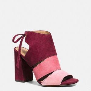 COACH Women's Pink Minetta Colorblock Sandal